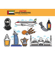 united arab emirates travel destination poster vector image