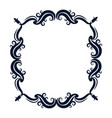 vintage ornate wreath and scroll banner vector image
