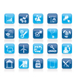 Internet and Website Portal icons vector image vector image