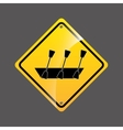 rowing boat sign sport extreme design vector image