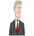 politician cartoon character vector image vector image