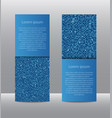 blue sequins banners card brochure probe vector image