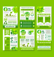 earth nature ecology infographics brochure vector image