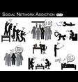 social network addiction vector image