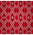 Seamless Christmas Red Knitted Pattern Style Knit vector image vector image