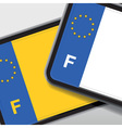 france number plate vector image