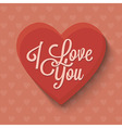 Heart icon with lettering vector image vector image