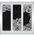abstract banner with floral ornament vector image