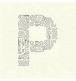 Letter P Golden Monogram Design element vector image