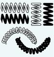 Tension springs vector image