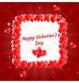 Greeting Card Happy Valentine s Day hearts vector image