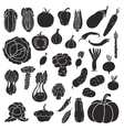 Icons of vegetables vector image
