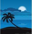 Night summer beach vector image