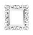 Elegant Baroque royal frame vector image