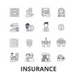 insurance health insurance insurance agent life vector image