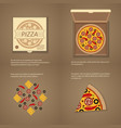 italian pizza in flat style vector image