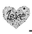 Love postcard Lettering Love Ink Modern brush vector image