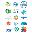 Nature water icons symbols vector image