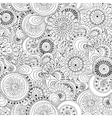 Seamless flower black and white retro background vector image