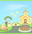 wedding concept cartoon style vector image