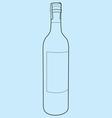 wine bottle outline vector image