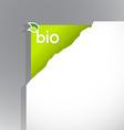Paper corner with bio sign vector image