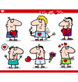 valentines day themes cartoon vector image vector image