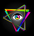 Pyramid and eye vector