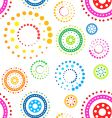 funky circles pattern vector image