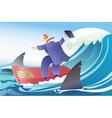 Card surfer vector image