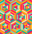 hexagon mosaic pattern vector image