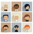 Set of Men Faces Icons in Flat Design vector image vector image