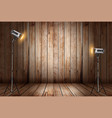 photo studio in old wooden room vector image