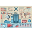 Set of Travel Infographic elements with icons vector image