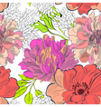 decorative floral seamless wallpaper vector image
