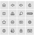 line browser icon set vector image