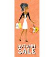 afroamerican shopping girl character vector image