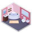 angular bath isometric interior vector image