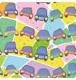 Cars and abstract pattern seamless vector image