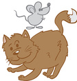 cat and mouse cartoon vector image