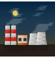 electricity station vector image