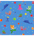 Funny underwater marine life vector image
