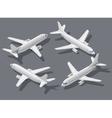 Isometric airplane 1 vector image