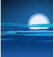 Summer night landscape vector image