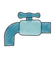 water faucet isolated cartoon vector image