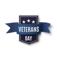Veterans Day background template on white vector image