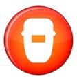 Welding mask icon flat style vector image