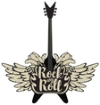 electric guitar and rock and roll vector image