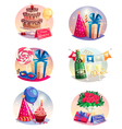Celebration Set Of Isolated Air Balloons vector image