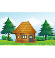 A native house in the hill vector image